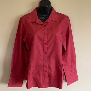 Foxcroft Non Iron Fitted Buttoned Blouse - Size 14P